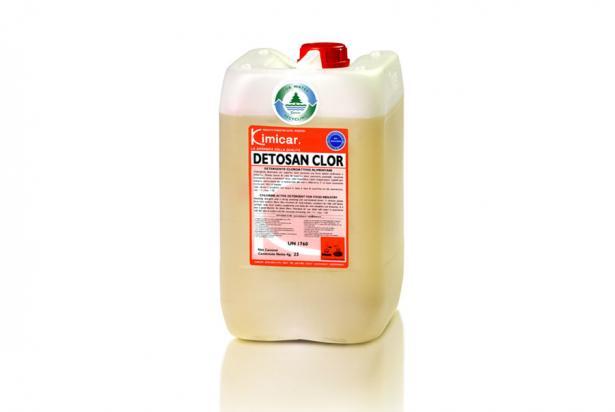 Detergente sbiancante non schiumogeno per l'industria alimentare