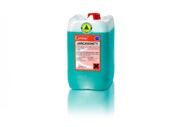 Detergente per la pulizia, l'igienizzazione, la deodorazione dei cassonetti dell'immondizia