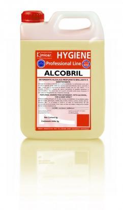 Detergente alcolico lucidante profumato per la pulizia e l'igienizzazione senza aloni
