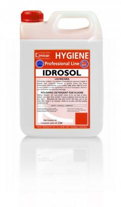 Detergente lucidante con policere idrosolubili per pavimenti lavabili
