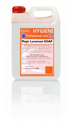 Liquido lavamani con tensioattivi delicati a base naturale (profumazione talco)