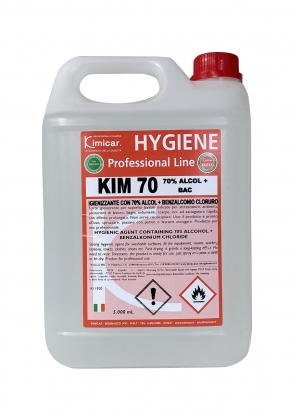 Alcoholic hygenic agent 5000 ml